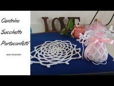 centrino sacchetto comunione - uncinetto - YouTube Vastu Shastra, Diy And Crafts, Youtube, Ideas, Sachets, Crochet Patterns, Weddings