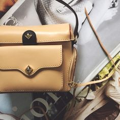 "leather camera crossbody NWT. Leather crossbody. Nude color with black accents. Gold hardware. Leather tassels. Foldover top closure. Front flap pocket and dual side zip pockets. Fabric lining. Measures 5.5"" H x 7"" W x 2.5"" D. Approx. 22-26"" strap drop. Dust bag included. ❌No Trades 