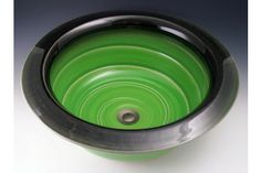 Indikoi MOD305 Modern17.5 Inch Avocado Vessel or self-rimming Mount Sink