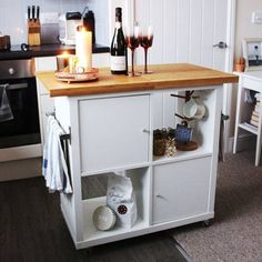 There are so many great Ikea Kallax hacks out there but which are the best? We've brought together the very best Ikea Kallax hacks for you in one place. You can create so many gorgeous and practical pieces of furniture with an Ikea Kallax. Kitchen Desk Organization, Kitchen Cupboard Storage, Kitchen Desks, Ikea Kitchen, Pantry Cabinets, Kitchen Pantry, Kitchen Shelves, Organization Hacks, Table Shelves