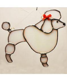 """Poodle ornament 4""""x4"""""""