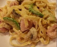 Recipe Chicken & Avocado Fettucine by Witsy - Recipe of category Pasta & rice dishes