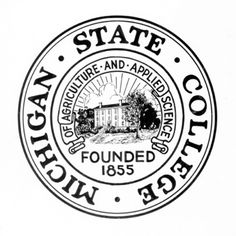 Michigan State College Seal, 1949, Photo by Michigan State University Archives, via Flickr