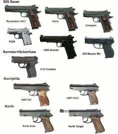 Germany pistol, handgun different types Military Weapons, Weapons Guns, Airsoft Guns, Guns And Ammo, Rifles, Armas Sig Sauer, Guns Dont Kill People, Shooting Guns, Army Vehicles
