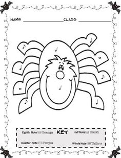music theory coloring pages - music coloring sheets spring easter color by note