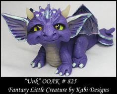 Fantasy Dragon DollHouse Art Doll Polymer Clay CDHM OOAK IADR Unk sculpture mini #KabiDesigns