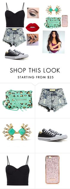 """Day of Fun"" by bearteddyblitz on Polyvore featuring T-shirt & Jeans, Stella & Dot, Converse, Alexander Wang, Lime Crime and Mehron"