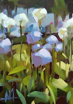 Alliums in the Flower Garden original floral by Angela Moulton prattcreekart