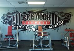 murals for gyms | Premier Fitness - Gym Mural