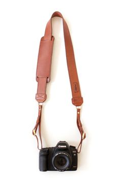 Leather Camera Strap in Brown