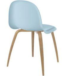 chaise Gubi 5, coque HiRek, piétement bois - 269€