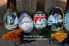 Turkey egg pysanky