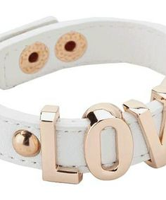 BCBGeneration Love Affirmation Bracelet #accessories  #jewelry  #bracelets  https://www.heeyy.com/suggests/bcbgeneration-love-affirmation-bracelet-white-rose-gold/