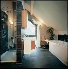 Fertighaus Wohnideen - Badezimmer im alten Musterhaus CENTRO in Hannover