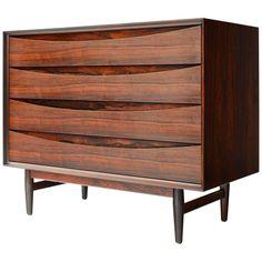 Rosewood Danish Modern Dresser by Arne Vodder Dresser Drawers, Chest Of Drawers, Danish Modern, Mid-century Modern, Dressers For Sale, Cabinets For Sale, Modern Dresser, Cool Furniture, Furniture Storage