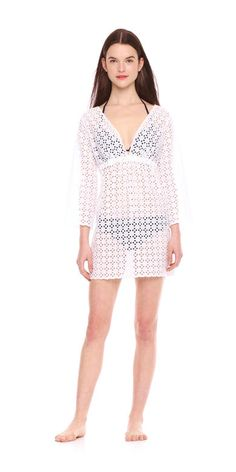 Eyelet Swim Cover up Dress from Joe Fresh. This eyelet cover up is a beach vacation essential.  Only $39.