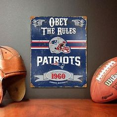 The Party Animal, Inc. VSNE New England Patriots Embossed Metal Sign