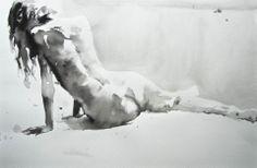 Modele vivant - Encre - ©Thomas de Cointet - My Art Agenda