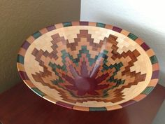 Southwestern Style Segmented Wood Art Bowl of Exotic by KaveBowls
