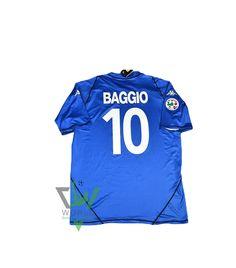 564963f05 Brescia Calcio Football club Home Kappa 2003-04 1 Baggio short Sleeve Football  Shirt Trikot Maglia Camiseta De Fútbol classic rare retro vintage Jersey Kit  ...