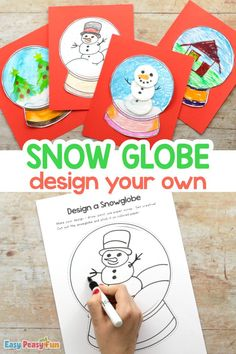 Design a Snow Globe Template Craft for Kids