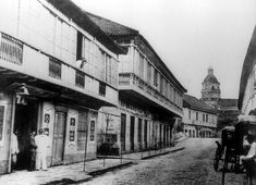Escolta Street, Manila, 1884 Filipino Architecture, Philippine Architecture, Pictures To Paint, Old Pictures, Old Photos, Vintage Pictures, Philippines Culture, Manila Philippines, Intramuros