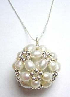 Pearl pendant necklace. Craft ideas from LC.Pandahall.com | Necklace 2 | Pinterest by Jersica