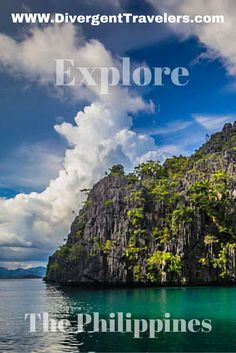 Explore the Philippines! Its more fun in the Philippines and with a seascape view like this there's no wonder why. Check out what divergent path you can take in the Philippines. From malti day kayacking, camping on remote islands to scuba diving, the Philippines have everything any adventure traveler is looking for. Click to read more at http://www.divergenttravelers.com/destinations/philippines/