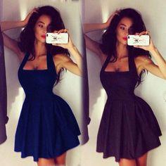 Sexy Women Black Sleeveless Bodycon Party Cocktail Evening Ball Mini Dress SML #Unbranded #StretchBodycon #Clubwear