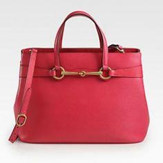 Gucci/ Bright bit medium leather tote