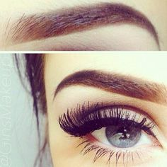 Good god I want beautiful eyebrows. I would give up my long lashes for great eye brows. False lashes are not that hard to use. It is hard to fake a good brow on blonde. I Love Makeup, Kiss Makeup, Without Makeup, Gorgeous Makeup, Hair Makeup, Simple Makeup, Makeup Goals, Makeup Inspo, Makeup Inspiration
