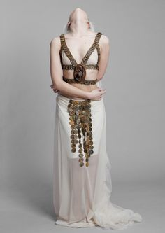 Collection tRUST Model Kadri Sammel Photo Andri Allas #rust #harness #tRUST #white #bottlecaps #maxiskirt #kätrinbeljaev