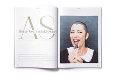 Interview with Aleksandra Ska.   #magazine #layout #design  layout: Joanna Garbacik