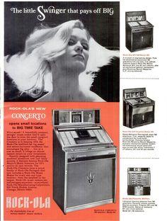 Rock-Ola Jukebox ad, 1967.