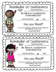 You Might be a First Grader...: Parent-Teacher Conferences Linky