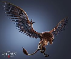 View an image titled 'Griffin Art' in our The Witcher Wild Hunt art gallery featuring official character designs, concept art, and promo pictures. The Witcher Wild Hunt, The Witcher 3, Witcher 3 Geralt, Witcher Art, Mythological Creatures, Fantasy Creatures, Mythical Creatures, Witcher Monsters, Jeux Xbox One
