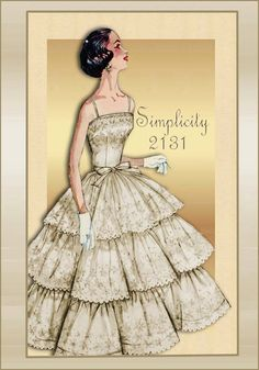 Vintage Pattern Simplicity 2131 Prom Cocktail or Formal Dress with Triple . 2019 dress pattern dress pattern free dress pattern uk dress sew house seven dress tutorial length dress patterns Dress Pattern Fashions 2019 Tea Summer Fashion Dress 2019 1950s Dress Patterns, Wedding Dress Patterns, Vintage Sewing Patterns, Clothing Patterns, Moda Vintage, Vintage Mode, Vintage Outfits, Vintage 1950s Dresses, Vintage Clothing