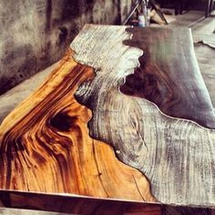 Sweet looking table... Timber table | Three ways | How's this for creative!