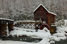 Grist Mill in the winter