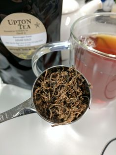 Beautiful Assam tea leaves from Upton Tea! #tea #greentea #teatime #win #90sBabyFollowTrain