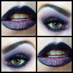 purple, good for Halloween makeup