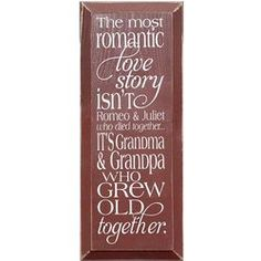 Most Romantic Love Story Wooden Sign