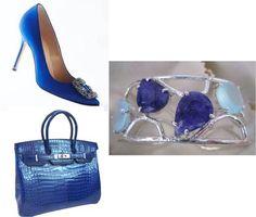 Brazalete Tazu de Joyeria-Harmony, complemento perfecto para el azul cobalto.