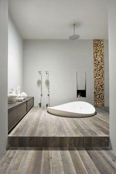 Salle de bains parquet #bois