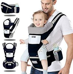 Kilitn Baby Soft Carrier, 12-in-1 Multifunction Baby Carrier Hip Seat for Newborn, Infant & Toddler, Adjustable Straps and Breathable Mesh, All Seasons, Perfect for Hiking Shopping Travelling : Baby