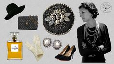 Black brooch Coco Chanel.