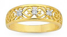 wedding band, diamond + gold, only $200!