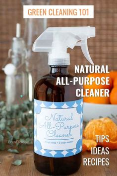 Tropical Garden Learn how to make all purpose cleaner with just 2 simple ingredients (no vinegar). Its non-toxic, cheap and effective. Bonus: learn which green cleaning ingredients work best to clean multiple surfaces. Homemade All Purpose Cleaner, Homemade Toilet Cleaner, All Purpose Cleaners, Cleaners Homemade, Diy Cleaners, How To Make Homemade, Household Cleaners, Deep Cleaning Tips, Cleaning Recipes