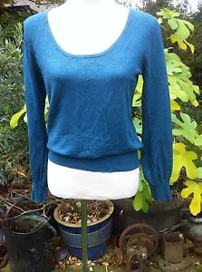 Peacock Green Puff Sleeve Jumper From Atmosphere Size 14 | eBay