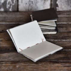 Binding pages can be as easy as paper and thread.